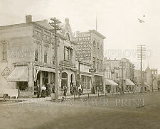 1910 Lake Mills Wisconsin Wi Main Street stores bank photo 5x7 or request 8x10