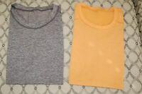 Lululemon Men's LOT of TWO METAL VENT TECH Shirts Sleeveless Large Gray/Orange