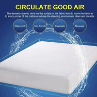 Waterproof Cooling Infused  Foam Mattress Urine-Proof Bed Cover King Queen Twin