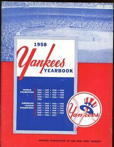 1958 New York Yankees Yearbook EX+