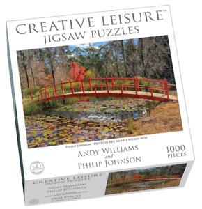1000pc Puzzle Mt Wilson Pretty in Red Japanese Bridge Landscape Philip Johnson