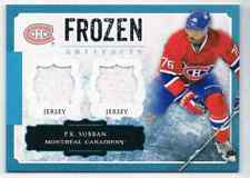 2013-14 ARTIFACTS FROZEN DUAL JERSEY P.K. SUBBAN DUAL JERSEY 1 COLOR MONTREAL