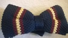 Bow Tie, blue gold red trendy vintage wool style. NEW
