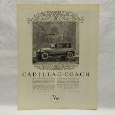 1925 CADILLAC V-63, BLACK & WHITE ADVERTISEMENT