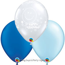 "15 Clear Happy Retirement + Blue Helium or Air 11"" Balloons Party Decorations"