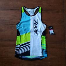 ZOOT Womens M LTD Tri Tank Triathlon Top Shirt Racerback Multi-Color Compression