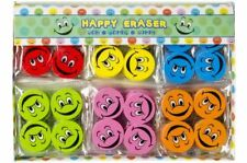 4/8/12/24/40 Stück bunte Radiergummi Emoji Smiley Radierer Mitgebsel N 281