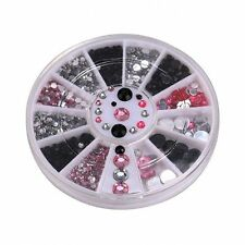 Mixed Shape Glitter Nail Art Tips Manicure Decoration Rhinestone Wheel Gem
