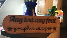 Personalized Cedar House Sign,Custom Engraved Outdoor/Indoor Wooden Name Plaque.