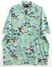 Polo Ralph Lauren Big & Tall Mens LT Green Tropical Fish Polo Shirt NWT Size LT