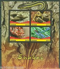 GHANA FIRST TIME OFFERED IMPERFORATED  SNAKES  SHEET II  MINT NH