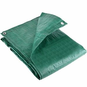 2x LARGE 6ft x 4ft TARP CAMPING SHEET WITH 6 EYELETS Tarpaulin Tent Ground Cover