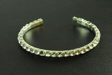 Ladies Feminine Fashion Bracelet(Zx2) Girly Clear Sparkle Gemstone Encrusted