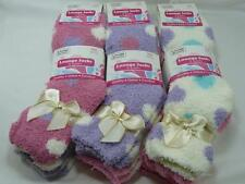 3 Pairs Ladies Soft Fluffy Lounge Cosy Bed Socks Shoe winter warm spots fleeces