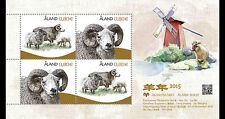 Aland 2014   schapen molen  sheep windmill  year of the sheep blok postfris/mnh