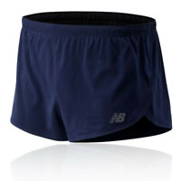 New Balance Mens Accelerate 3 Inch Split Shorts Pants Trousers Bottoms - Navy