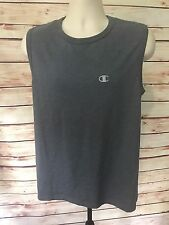 CHAMPION Size M Gray WORKOUT GYM RUNNING CUTOFF T-SHIRT Summer Casual Wear