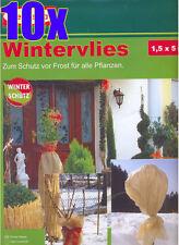 10er Pack Wintervlies 1,5 x 5m = 75m² beige Winterschutz Bellissa Pflanzenschutz