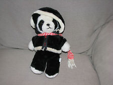 "12"" VINTAGE INTERPUR BLACK WHITE PANDA TEDDY BEAR STUFFED ANIMAL PLUSH TOY DOLL"