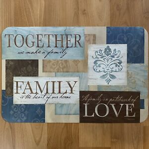 Together Family Love Teal Vinyl Kitchen Placemats Table Decor 17x11 - YOU PICK!