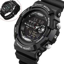 1x Watch Stainless Steel Men's Military Sport Analog Quartz Wrist Watch black AC
