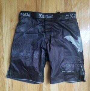 93 Brand Jiu Jitsu Shorts Size 34 Gotham Batman Dark Knight MMA