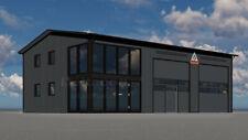 DELTACON Stahlhalle Büro Werkstatt 10 x 15 x LH 5/ FH 6 m isoliert + neu
