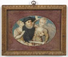 """""""Scene from Commedia dell'Arte"""", Italian miniature, 18th century"""