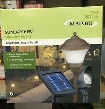 KIT Intermatic Malibu Solar Yard Landscape Garden Black Floodlight Spotlight NEW