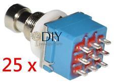 25 x 3PDT footswitch interruttore a pressione true bypass pedal clone DIY