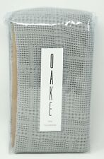 Oake Bedding Waffle Plaid Collection 100% Cotton Pillow Sham - King - Gray