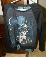STAR WARS SHIRT WITH SHEER BACK SIZE XL DARTH VADER,PRINCESS LEIA,C-3PO, R2D2,+