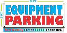 Full Color EQUIPMENT PARKING Banner Sign All Weather NEW Larger Size