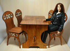 Table-bar + 4 chairs for Dolls Tonner BJD Antoinette Cami 16-18 inch 1/4 scale