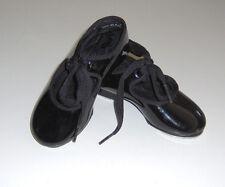 EUC Capezio little girls black tap dance shoes sz 7 Wide