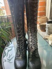New Rock Boots Damen 40 Gothic metal stiefel schwarz