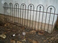 Antique Victorian Iron Fence Architectural Salvage Central PA 88 x 32