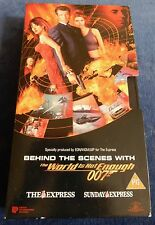 """James Bond """"The World Is Not Enough"""" behind the scenes promo VHS video tape"""