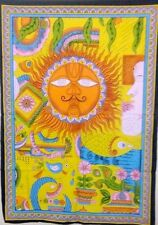 Tapestry Wall Hanging Throw Poster Flag indian 40*30 SUN Traditional Multi Color