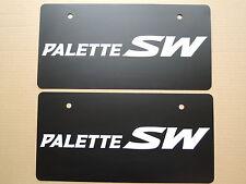 JDM SUZUKI PALETTE SW Original Dealer Showroom Display License Plates Pair