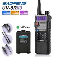 Baofeng UV-5RX3 3800mAh + 1800mAh Battery Tri-Band VU 220MHz Two way Radio US