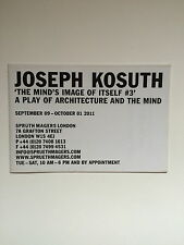 Joseph Kosuth, Private View invitation/plié Affiche, 2011