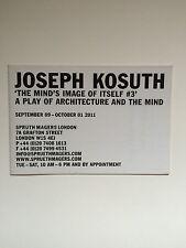 Joseph Kosuth, private view INVITO/Piegato POSTER, 2011