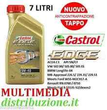 7 LITRI OLIO MOTORE CASTROL EDGE 5W40 TITANIUM FST TURBO DIESEL SINTETICO 505.01