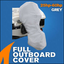 Full Outboard Boat Motor Engine Cover Dust Rain Protection Grey - 25hp - 60hp