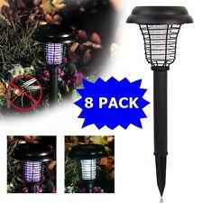 8PACK Solar Powered LED Light Pest Bug Zapper Insect Mosquito Killer Lamp Garden