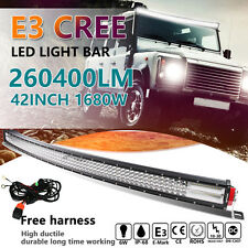 8D Quad-Row 1680W PHILIPS 42Inch Curved LED Light Bar Flood Spot Driving VS 52''
