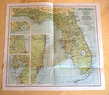 Vintage National Geographic Magazine 1930 Florida Map Insert