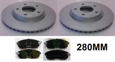 FOR NISSAN JUKE 1.5 DCi 1.6 (2010-2014) TWO FRONT BRAKE DISCS AND PADS SET NEW