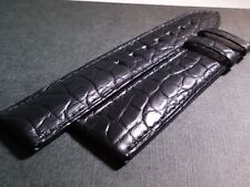 Montblanc band 20/18mm. black crocodile. 120/80mm NEW